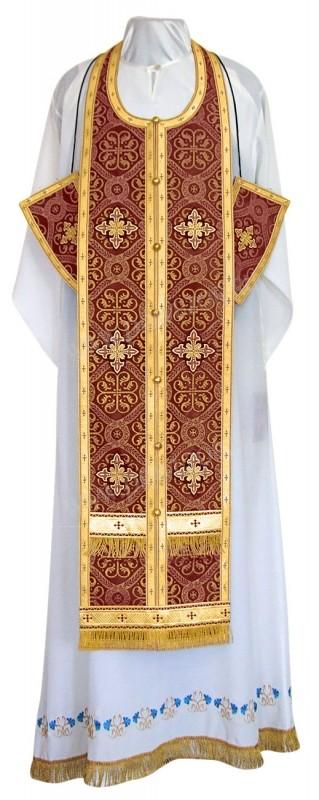Требный комплект из шёлка Ш3 (бордовый/золото)