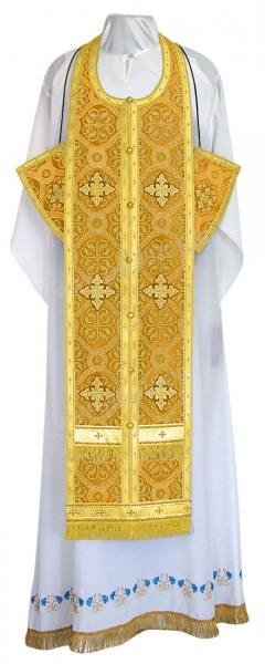 Требный комплект из шёлка Ш4 (жёлтый/золото)