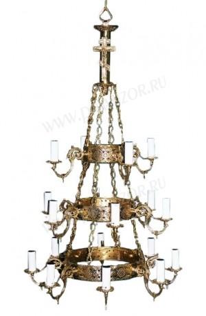 Трёхъярусный церковный хорос - 3 (18 свечей)