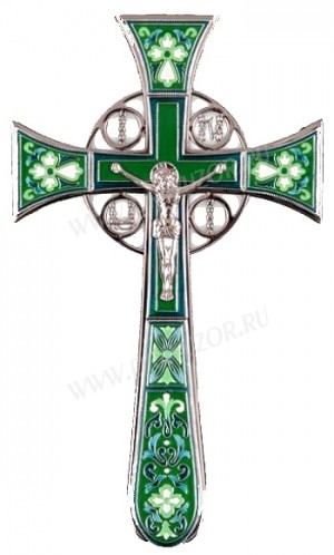 Крест напрестольный №4-1 (зелёный)