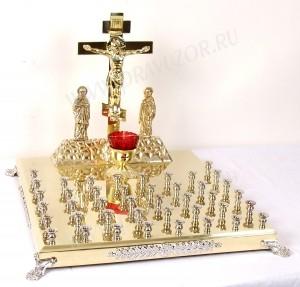 Крышка панихидного стола - 42 свечи