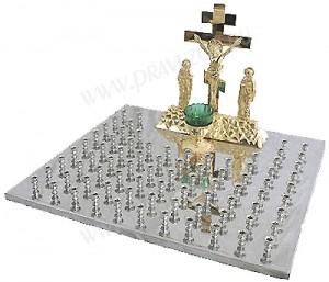 Крышка панихидного стола - 80 свечей