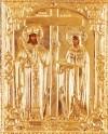 Православная икона: свв. Равноапостольные Император Константин и матерь его Елена №75