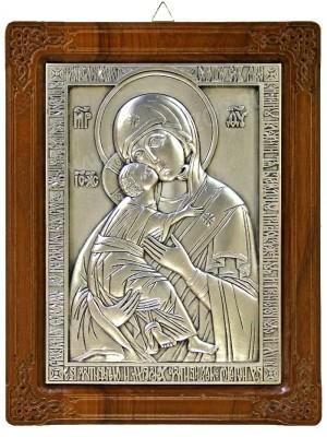 Икона на металле: Владимирский образ Пресв. Богородицы