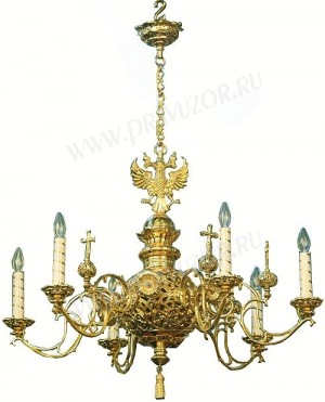 Одноярусное церковное паникадило - 7 (6 свечей)