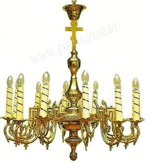 Одноярусное церковное паникадило - 4 (12 свечей)