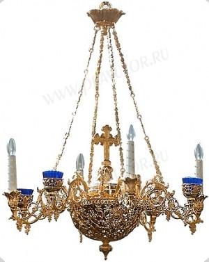 Двухъярусное церковное паникадило - 13 (6 свечей)