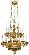 Трёхъярусное церковное паникадило - 2 (27 свечей)