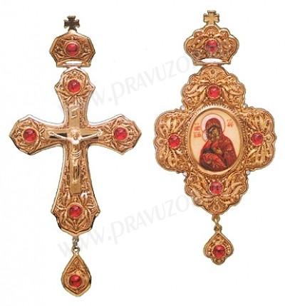 Набор для архиерея (крест и панагия) №14