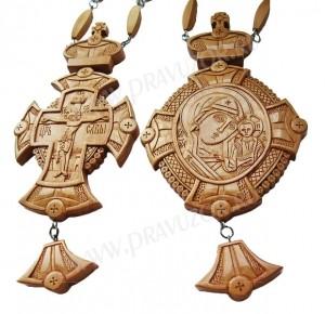 Набор для архиерея (крест и панагия) №2