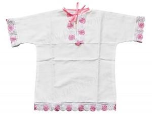 Крестильная рубашка для девочек