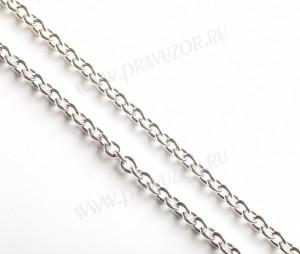"""Цепочка для наперсного креста """"Якорная"""" (серебрение)"""