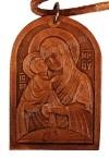 Медальон кожаный образ Владимирской Богоматери