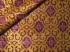 """Парча греческая """"Славянский крест"""" (фиолетовая/золото с фиолетом)"""