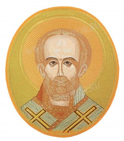 Вышитая икона - Свт. Николай Чудотворец