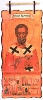 Дары Св. Земли: Восковое панно с образом Св. Николая Чудотворца