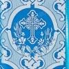 """Шелк """"Караганда"""" (синий/серебро)"""