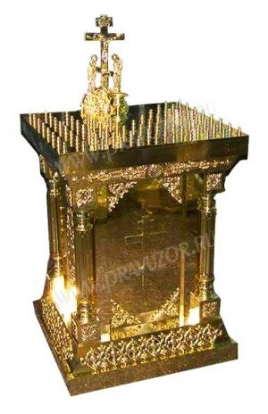 Подсвечник панихидный (канун) - 8 (на 60 свечей)