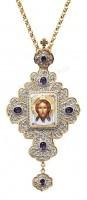Крест наперсный с украшениями №001