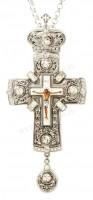 Крест наперсный с украшениями №107s