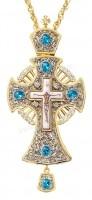 Крест наперсный с украшениями №007s