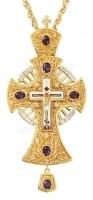 Крест наперсный с украшениями №007