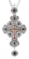 Крест наперсный с украшениями №006s