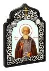Икона настольная  - святой преподобный Сергий Радонежский Чудотворец.