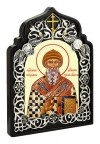 Икона настольная  - святитель Спиридон Тримифунтский.