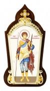 Икона настольная  в серебре - святой великомученик и чудотворец Георгий Победоносец.
