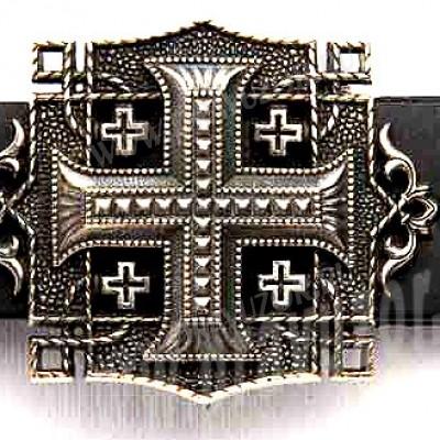 Пояс мужской - Крест накладной