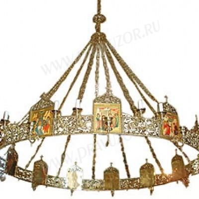Одноярусное церковное паникадило (horos) -2 (12 свечей)