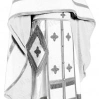 Иерейское русское облачение из нем. бархата (белый/серебро)