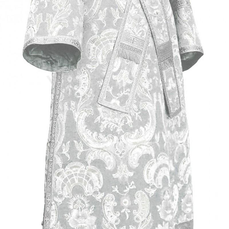 Иподьяконское облачение из парчи ПГ5 (белый/серебро)