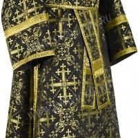 Иподьяконское облачение из шёлка Ш2 (чёрный/золото)