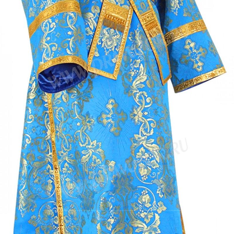 Иподьяконское облачение из шёлка Ш4 (синий/золото)