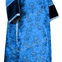 Стихарь клирика из парчи ПГ2 (синий/серебро)