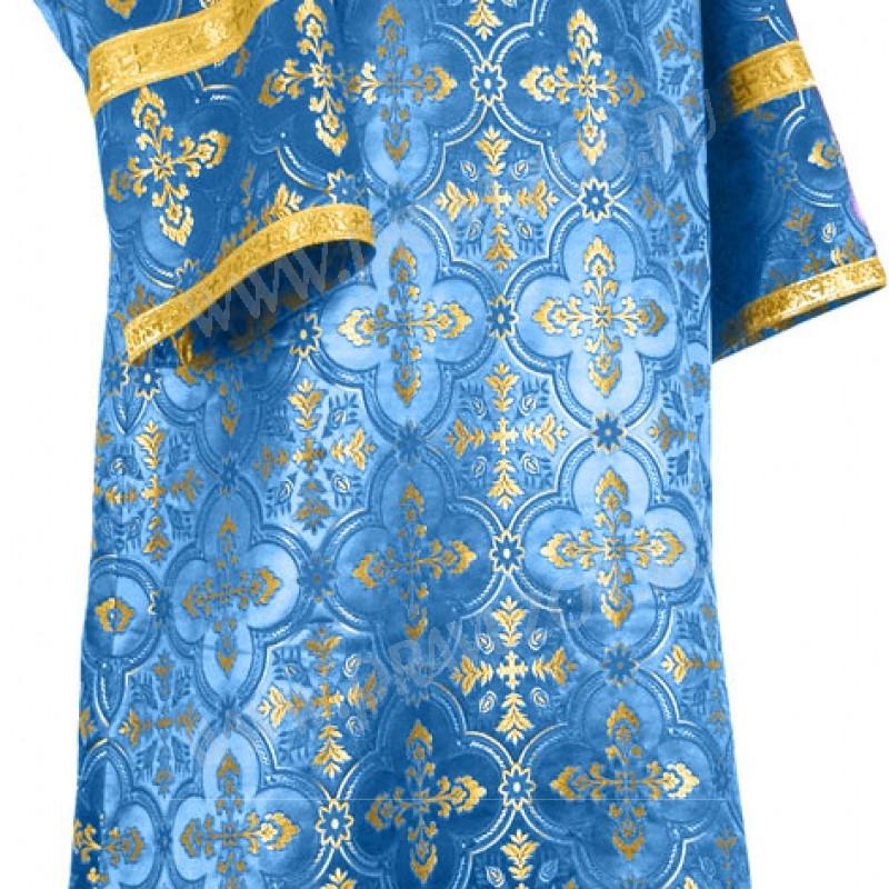 Стихарь детский из шёлка Ш3 (синий/золото)