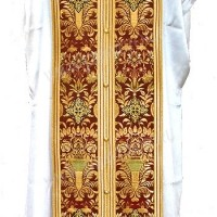 Требный комплект из парчи ПГ6 (бордовый/золото)
