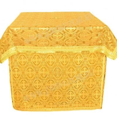 Облачение на престол из парчи ПГ6 (жёлтый/золото)