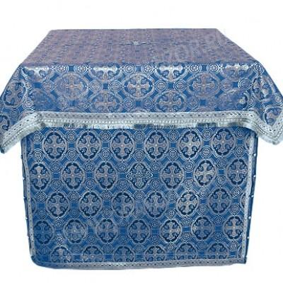 Облачение на престол из шёлка Ш2 (синий/серебро)