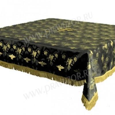 Пелена на престол/жертвенник из парчи ПГ1 (чёрный/золото)