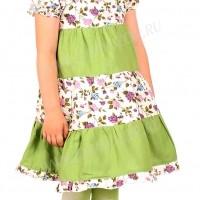 """Платье для девочек """"Полюшко"""" (зелёное)"""