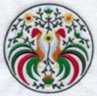 Медальон с петухами-1