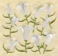 Лилия - вышивка для подушки