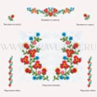 Венгерская вышитая цветами сорочка