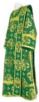 Дьяконское облачение из шёлка Ш3 (зелёный/золото)