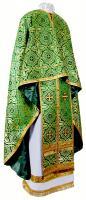 Греческое иерейское облачение из шёлка Ш3 (зелёный/золото)