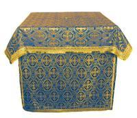 Облачение на престол из шёлка Ш3 (синий/золото)