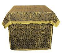 Облачение на престол из шёлка Ш3 (чёрный/золото)